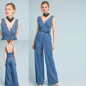 503839bcb37 Anthropologie Pilcro Denim Jumpsuit NWOT Size 12. Anthropologie Pilcro  Denim Jumpsuit NWOT Size 12.  70  90. Anthropologie Nomad Morgan Carper  Garnet ...